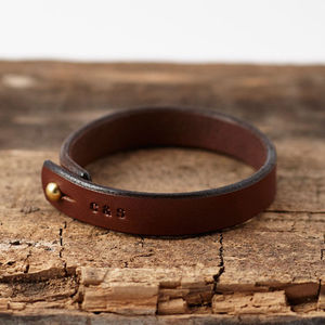 Personalised Stamped Leather Bracelet - gifts for him