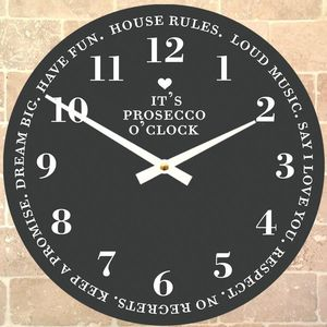 'It's Prosecco O'clock' Clock - kitchen