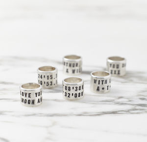 Personalised 'Storyteller' Silver Links - personalised jewellery