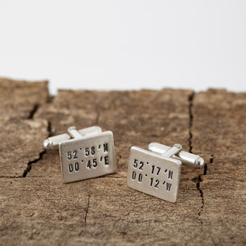 Personalised Dual Location Cufflinks