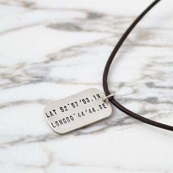 Personalised Silver Coordinates Necklace
