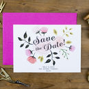 Peony Save The Date Card