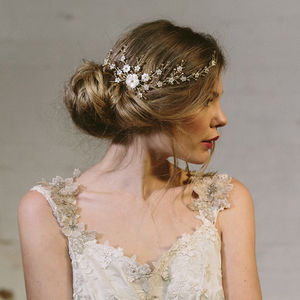 Sylvie Crystal And Pearl Wedding Hair Vine Bridal Comb - women's jewellery