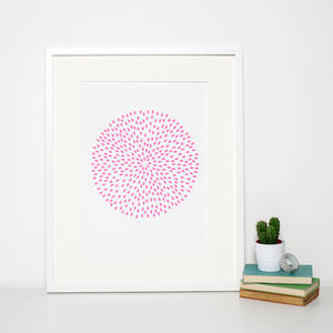 Reduced Modern Pink Circle Print - blush bedroom