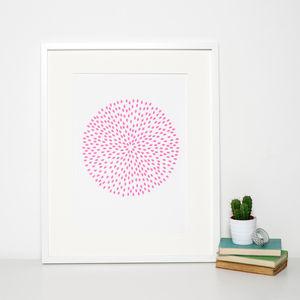 Summer Pink Circle Print