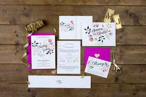 Peony Wedding Invitation - invitations