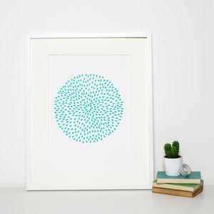 Modern Turquoise Circle Print