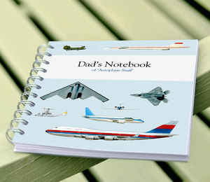 Personalised Aeroplane Notebook