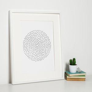 Grey Modern Art Print - posters & prints