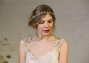 Isabella Pearl And Crystal Flower Crown Ribbon Headband - women's jewellery
