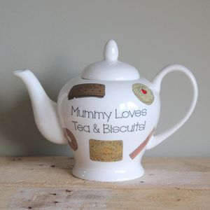 Personalised Biscuit Teapot - teapots
