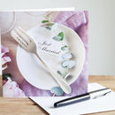 Personalised Fork Wedding Cutlery Card