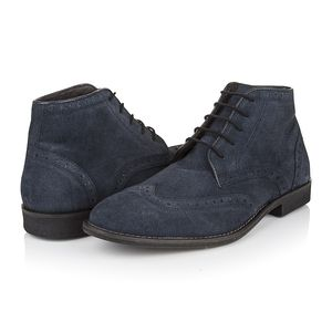 Ethan Navy Suede Boots