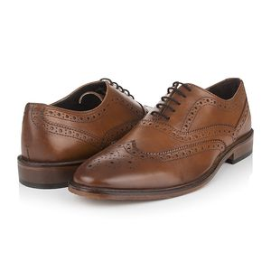 Jude Antique Tan Leather Brogues