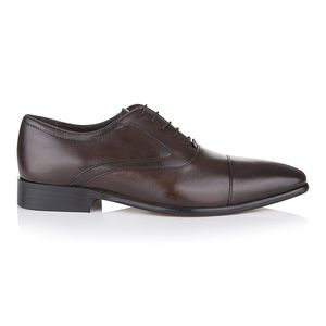 Oscar Dark Brown Leather Shoes - shoes & boots