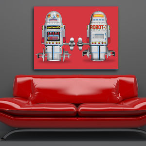 Pop Art Robot Seven Canvas Print