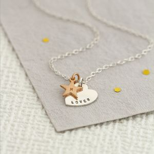Personalised Heart And Star Necklace - gifts for her