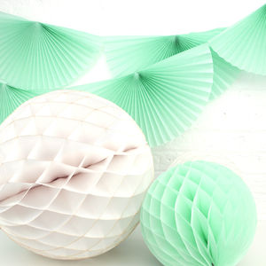 Mint And Ivory Paper Wedding Decorations