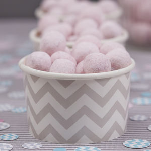 Grey Chevron Treat / Ice Cream Party Tubs