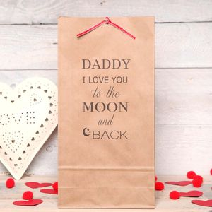 Personalised Love You To The Moon Gift Bag