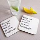Personalised Fill My Drink Coaster