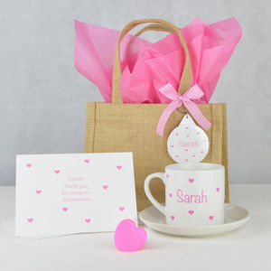 Personalised 'Bridesmaid' Wedding Gift Set
