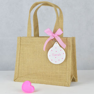 Personalised Bridesmaid Gift Bag - ribbon & wrap