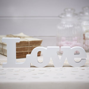 Love Wooden Wedding Sign - winter sale