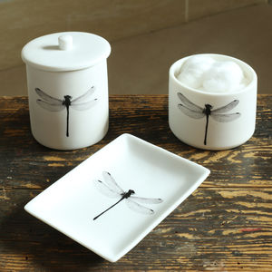 Set Of Three Dragonfly Bathroom Accessories - new home essentials