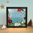 Personalised Floral Name Illuminating Light Box
