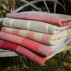 100% Shetland Wool Throws - throws, blankets & fabric