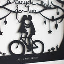 Romantic Bicycle Papercut Or Print In Mount