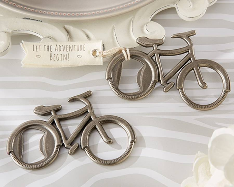 39 let 39 s go on an adventure 39 bicycle bottle opener by hope and willow. Black Bedroom Furniture Sets. Home Design Ideas