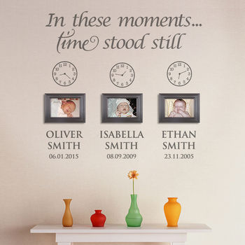 In These Moments Personalised Wall Sticker