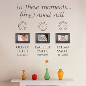 In These Moments Personalised Wall Sticker - baby's room