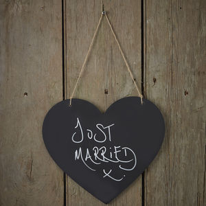 Vintage Style Chalkboard Hanging Heart - weddings sale