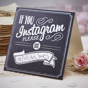 Vintage Style Chalkboard If You Instagram Signs