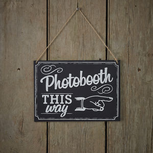 Vintage Style Chalkboard Photo Booth Sign - room signs