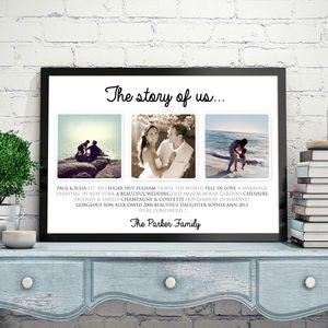 Personalised 'The Story Of Us' Landscape Art