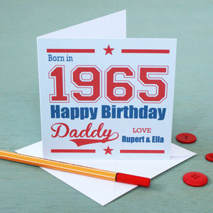 Personalised Birth Year Birthday Card - birthday cards