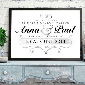 Personalised Wedding Art