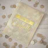 Vintage Style Gold Confetti Envelopes - weddings