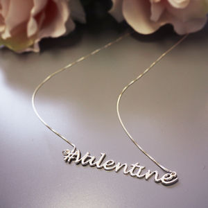 Hashtag Valentine Necklace - whatsnew
