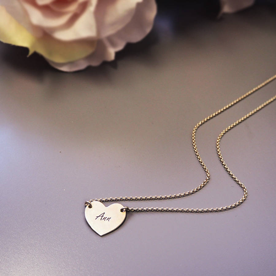 3676ce4522f35c personalised engraved heart necklace by anna lou of london ...