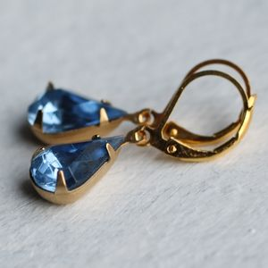 Blue Sapphire Earrings - earrings