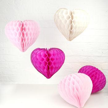 Tissue Paper Heart Decoration