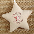 personalised flower girl star, cream front and back
