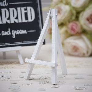 Vintage Style Mini Wood Easels - table decorations
