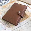 Cognac leather super deluxe passport wallet