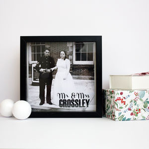 Personalised Wedding Box Print - new in prints & art